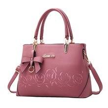 3cdb27452 Adisputent Flor Rosa Impressão Bolsa Para Mulheres PU LEATHER Mulher  Bowknot Crossbody Bag de Alta Qualidade Bolsas de Grife Fal.