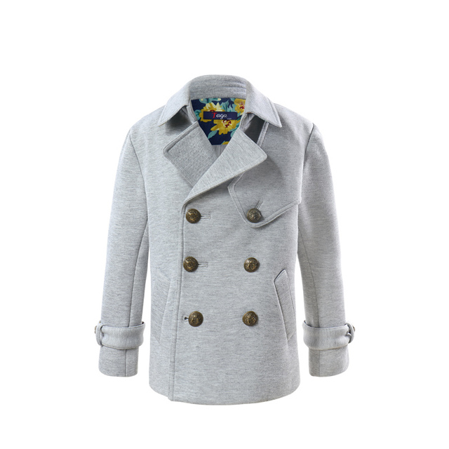 67549f887 Boys Trench Coat Grey Navy Kids Winter Jacket For Teenage Boy Coats ...