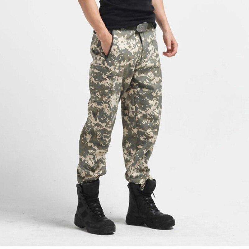 REEBOW tactique hommes randonnée en plein air tactique pantalon hiver thermique polaire Softshell pantalon pour Camping militaire armée chasse