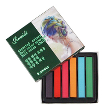 1 Set 6 Colors Hair Chalk Easy Temporary Colors Non-toxic Hair Chalks Dye Soft Hair Pastels Kit Hair Beauty Care Hot Sale Z3