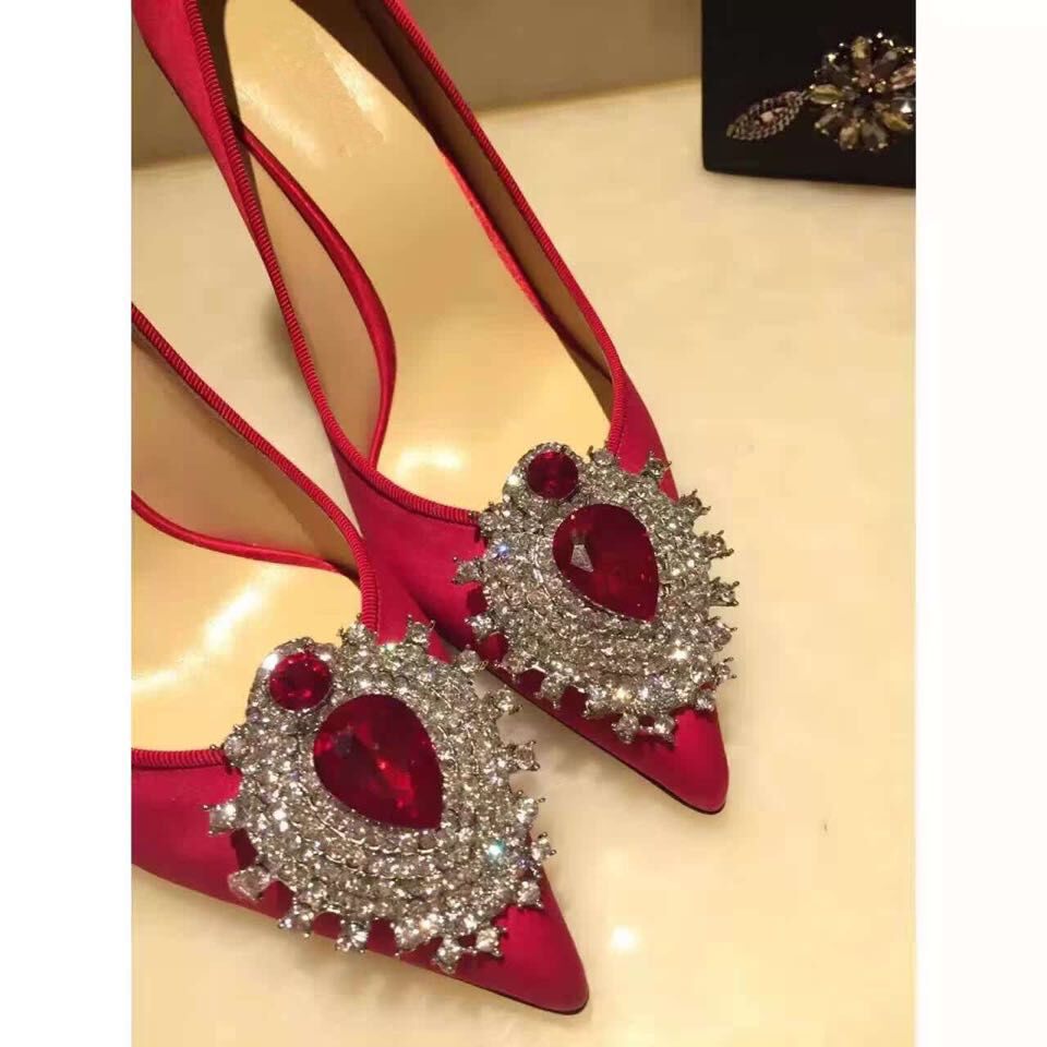 Brand Shoes Woman High Heels Women Pumps Stiletto Thin Heel pumps Flower printed  Pointed Toe High Heels Wedding Shoes size33-43 women stiletto square heel high heels wedding shoes pointed toe patent leather fashion pumps heels shoes size 33 40 p22810