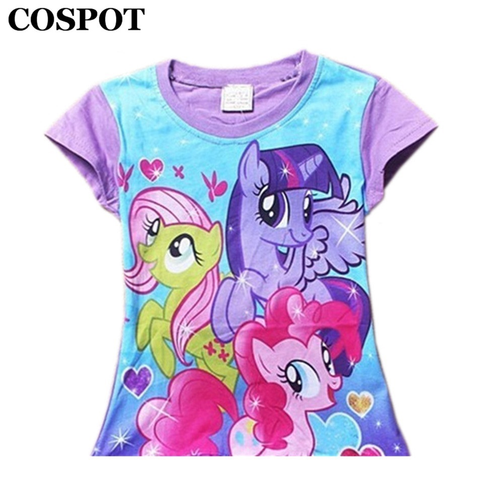 COSPOT Baby Girls Summer T Shirt Girl Cute 100% Cotton Short-sleeved T-shirt Girl's Fashion T Shirts 2-8Yrs 2018 New Arrival 20 футболка для девочки t shirt 2015 t t 2 6 girl t shirt