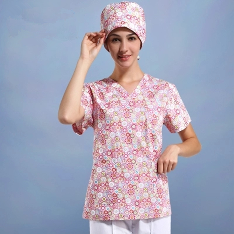Operating Room Women Short - Sleeved Hand Washing Clothes Separate Body Suit Isolation Suit Rinse Clothes
