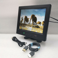 8 inch HDMI small display 1024X768IPS full viewing angle monitor USB5V power solution