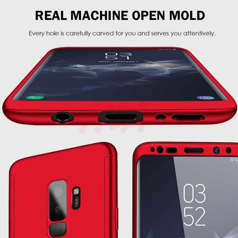 H & lüks 360 tam kapak telefon samsung kılıfı Galaxy S10 S9 S8 artı S7 kenar not 9 8 darbeye dayanıklı kapak S10 lite Fundas çapa