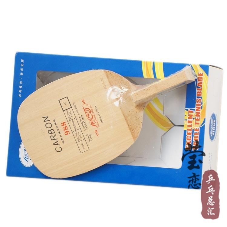 Original Milkey Way Yinhe 988 Bordtennisblade raskt angrep med løkke Japansk pennebordstennisrackete karbonblad