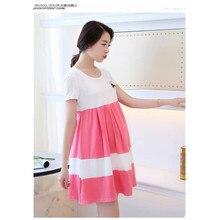 Free Shipping 2016 Summer Cotton Short-sleeved Maternity Dress XXL yard Korean  Pregnant Women 200 pounds