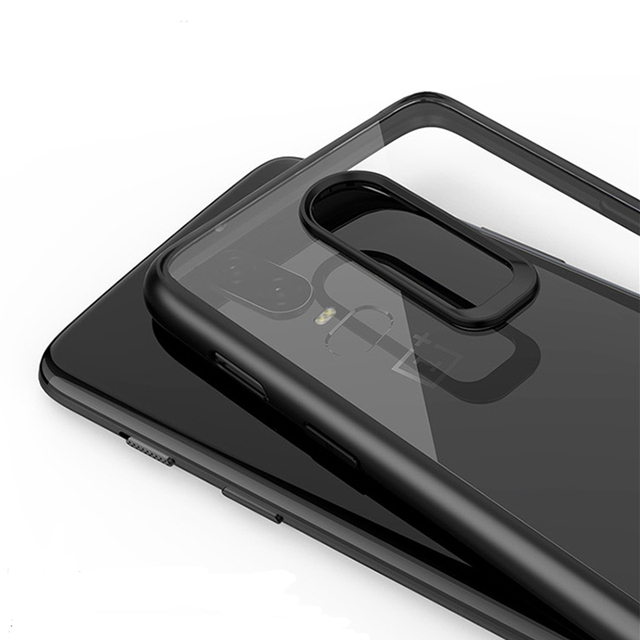 28c61363641 Oneplus6 Case Funda Oneplus 6 Case Acrylic Back cover for One Plus 6 Phone  cover Oneplus Six 6 Clear Transparent Protective Case