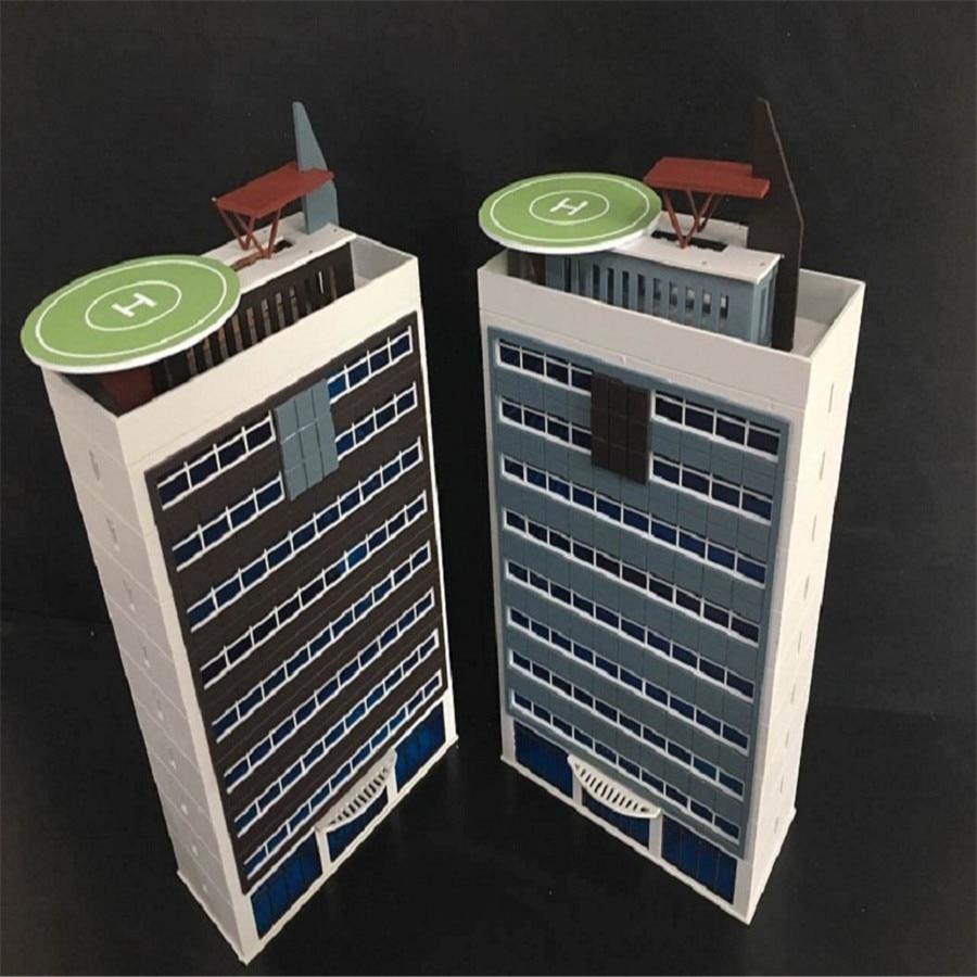 1 144 150 Police Building Building Train Scene Model Multifunctional Scene Plastic Assembly Model