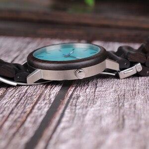 Image 4 - Bobo pássaro novo design relógios de madeira banda quartzo relógio de pulso para homem e mulher aceitar oem transporte da gota w * q07