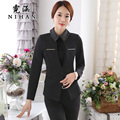 Han Ni spring wear suits women new Korean Slim pants suit OL lady suit dress overalls
