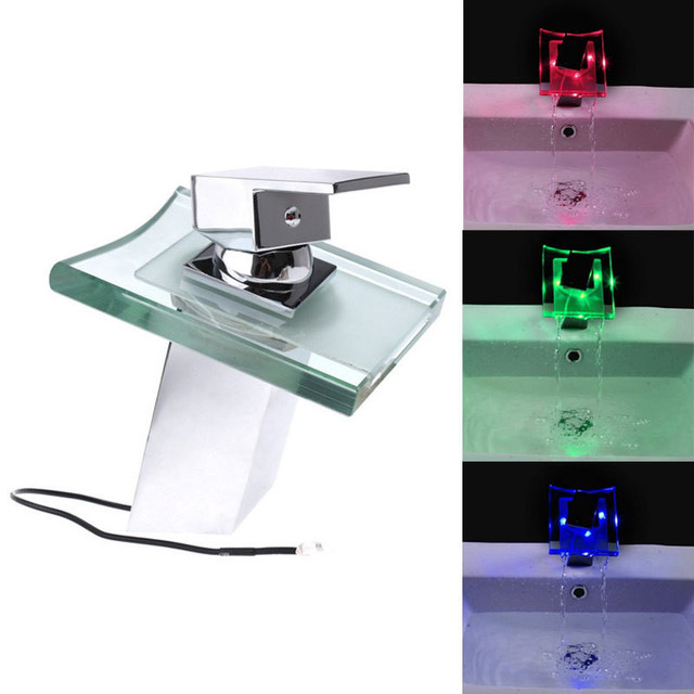 LD8006 003B Temperature Sensitive RGB 3 Colors Modern LED Automatic Kitchen  Faucets