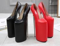 Изысканный Женщина высокого класса boutique для ночного клуба Большие размеры супер высокий каблук на водонепроницаемой платформе 30 см хит сез
