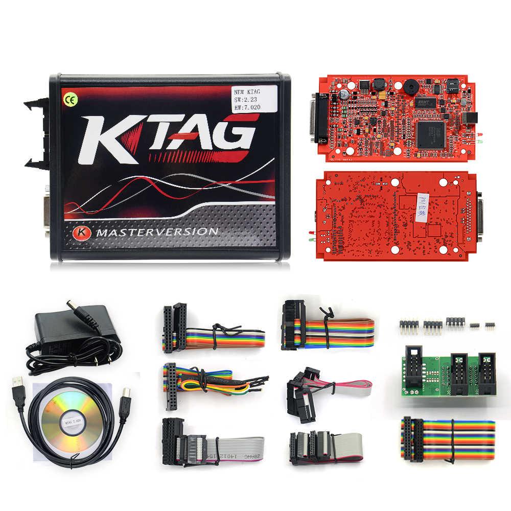 2019 KESSV2 KESS V2 V5.017 EU красный V2.47/V2.23 ECM Титан KTAG V7.020 4 светодиодный онлайн мастер-версия ECU OBD2 программист для автомобиля/грузовика