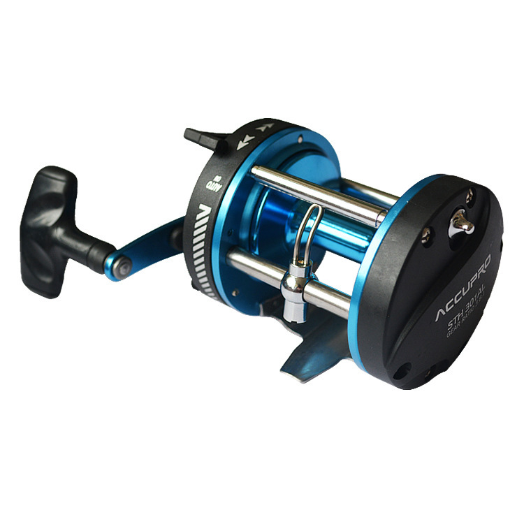 Free shipping  STH300 Stainless steel bearings 5BB Trolling round Right-hand Sea Fishing Wheel Boat fishing reel--d5