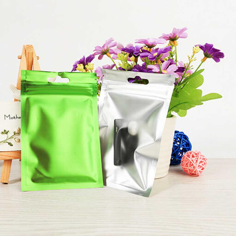 4 צבעים שטוח נעילת מיקוד חבילה תיק רדיד מזון אריזת תיק חום חותם אלומיניום רדיד Ziplock שקיות מזון כיתה 8*13 cm/10*18 cm/9*15 cm