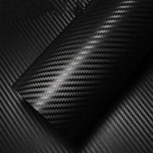 Наклейка для автомобиля из углеродного волокна 127*30 см