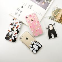 New Arrival Japan Style Funny No Face Case for iphone 6 6s 7 7 Plus Transparent Slim Crystal Tpu Slim Clear Case Cover