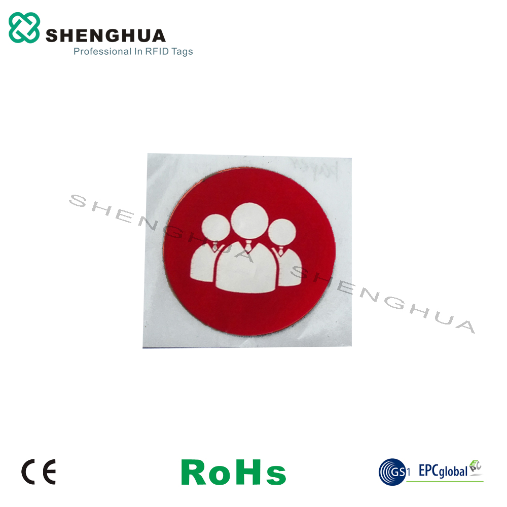 6pcs/pack HF 13.56MHz NFC Passive RFID Tag Label Diam 25mm Small PET Waterproof Logo For Asset Management