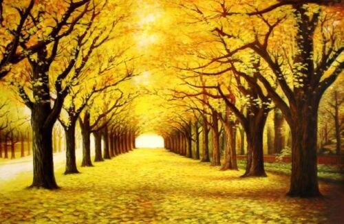 Fall Season Desktop Wallpaper Beautiful Oil Painting Autumn Season Landscape With Yellow