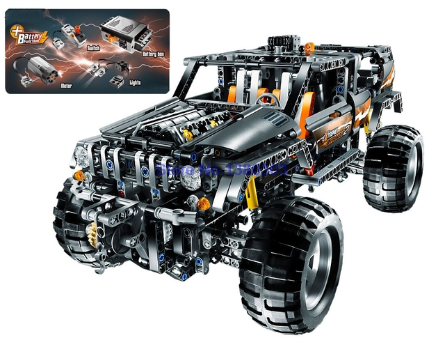 lepin 20030 technic off roader building blocks with electric motors power functions model bricks. Black Bedroom Furniture Sets. Home Design Ideas