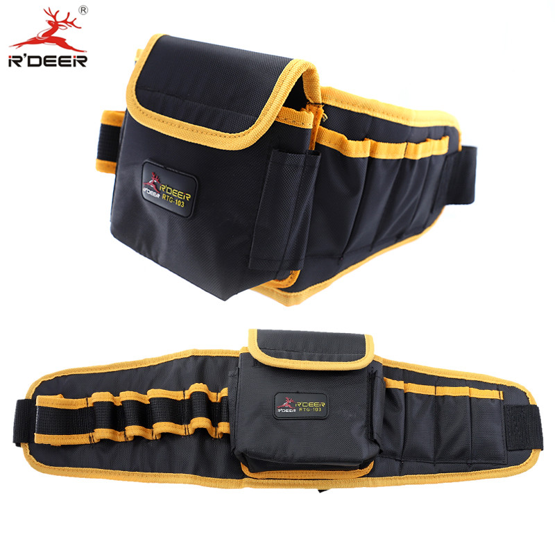 RDEER Waist Bag Tool Portable Oxford Cloth Tool Belt Waterproof Tool Bag Electrician Pockets Multifunction fasite multifunction canvas bag tool handbag storage bag waterproof electrician bag waist belt free shipping