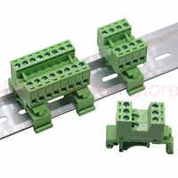 1 sets 10-20pin Pitch 5,08mm Schraube Plug-in Terminal Blöcke stecker Din Schiene Montage anstelle 2EDG-UKR-5.08mm Schiene terminal