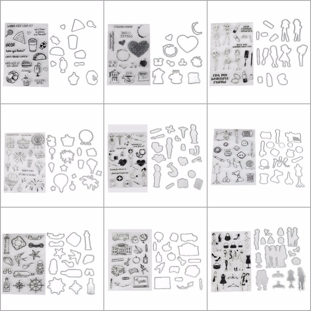 Acrylic Silicone Rubber Clear Stamps Clear Silicone Stamp/Seal for DIY scrapbooking/photo album Decorative clear stamp sheets angel and trees clear stamp variety of styles clear stamp for diy scrapbooking photo album wedding gift cl 163