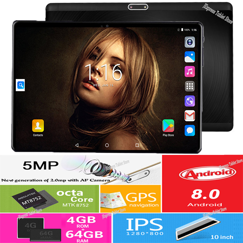 2019 DHL Free Shipping 10 inch Android 8 0 Tablets PC 4GB RAM 64GB ROM 8