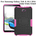 T580Nes Для Samsung Galaxy Tab A 10.1 Case T580 T585 Хен Броня Силиконовый Kickstand 10.1 дюймов обложка + пленка + стилус