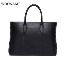 WOONAM Mannen Aktetas Hoge-end Mannen Business Tas Top Grain Echt Kalfsleer Tafel Business Computer Case Bag Top handvat Tas(China)