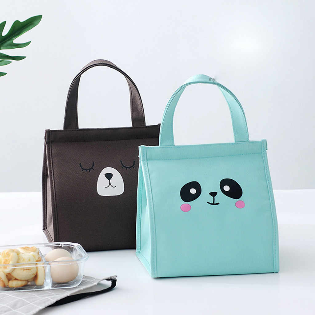 Super Insulation Cartoon Pattern Waterproof Multi-function Insulated Lunch Box Bread Food Lunch Bag Insulation Package H0409