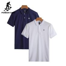 Pioneiro Acampamento pacote de 2 Camisa Polo Dos Homens da qualidade  superior 100% algodão Mens Camisa Pólo de Manga Curta Sólid. 7a2ac386d258f