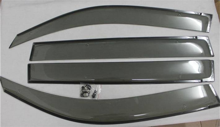 Side Window Sun Shield Visors Vent Rain Wind Deflector Guard For TOYOTA Land Cruiser 200 LC200