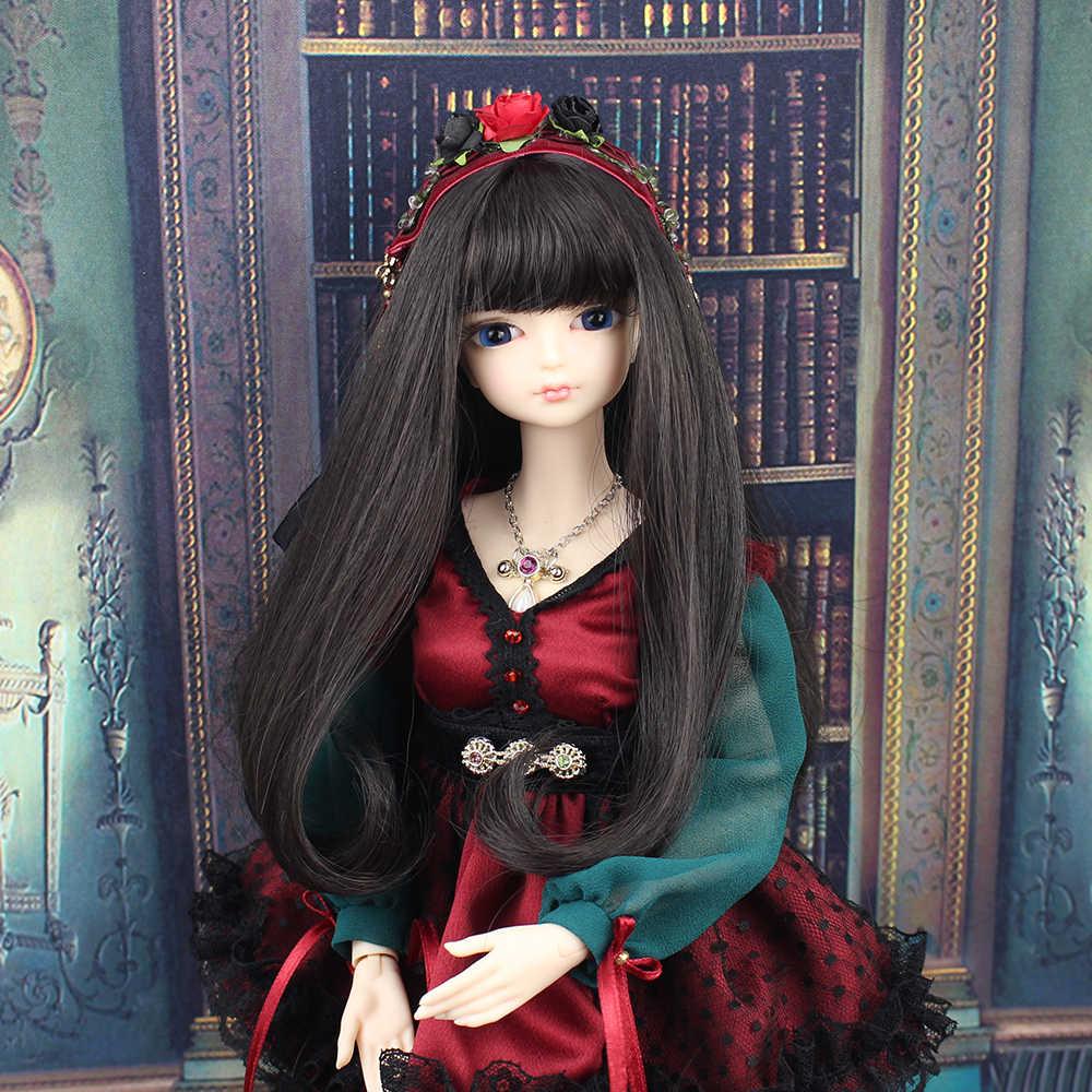1/4 BJD Blyth кукла No. черные длинные волосы тела с макияж, включая кожу головы, глаза, одежда reborn девушки высота 45 см
