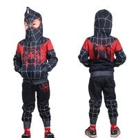 SpiderMan Cosplay Spider Man Costume Hoodies Halloween Kids Stage New Fashion Fit Figure Costume Drop Ship