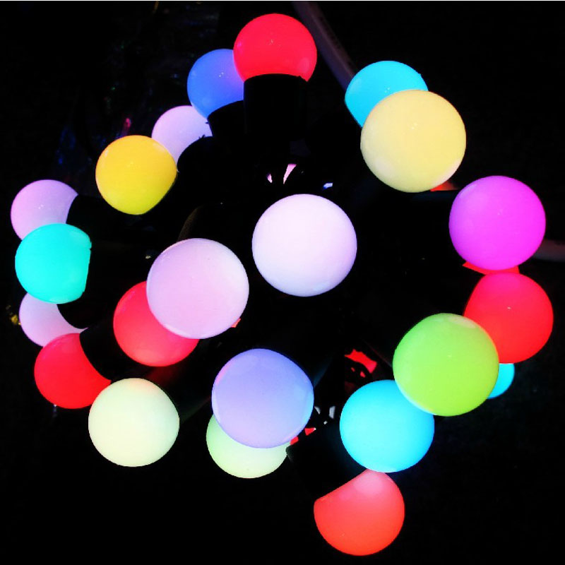 Luminarias LED Cotton Ball String Lights Curtain garland lamps fairy wedding Indoor Outdoor Christmas Holiday Lighting 30m 300 led 110v ball string christmas lights new year holiday party wedding luminaria decoration garland lamps indoor lighting