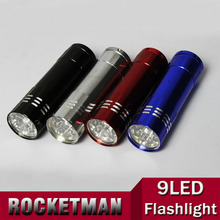 New Silver Mini Flashlight 9 LED Small Hand Torch 87