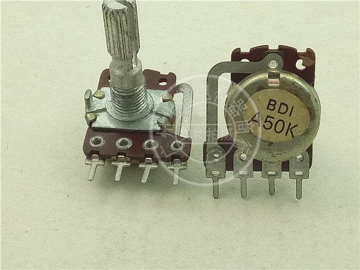 Original new 100% stock B D I 148 Type single belt tap potentiometer A50K A100K long 25MM plum blossom axis (SWITCH) ctr associated with switch potentiometer single handle length 15fmm a50k