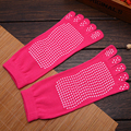 New Women Non-slip Socks Fitness Cotton Solid Colors Toe Socks Women Pilates Socks sleepwear sock