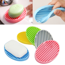 2017 New Creative Silicone Flexible Toilet Soap Holder Plate Bathroom Soap box Soap Dish