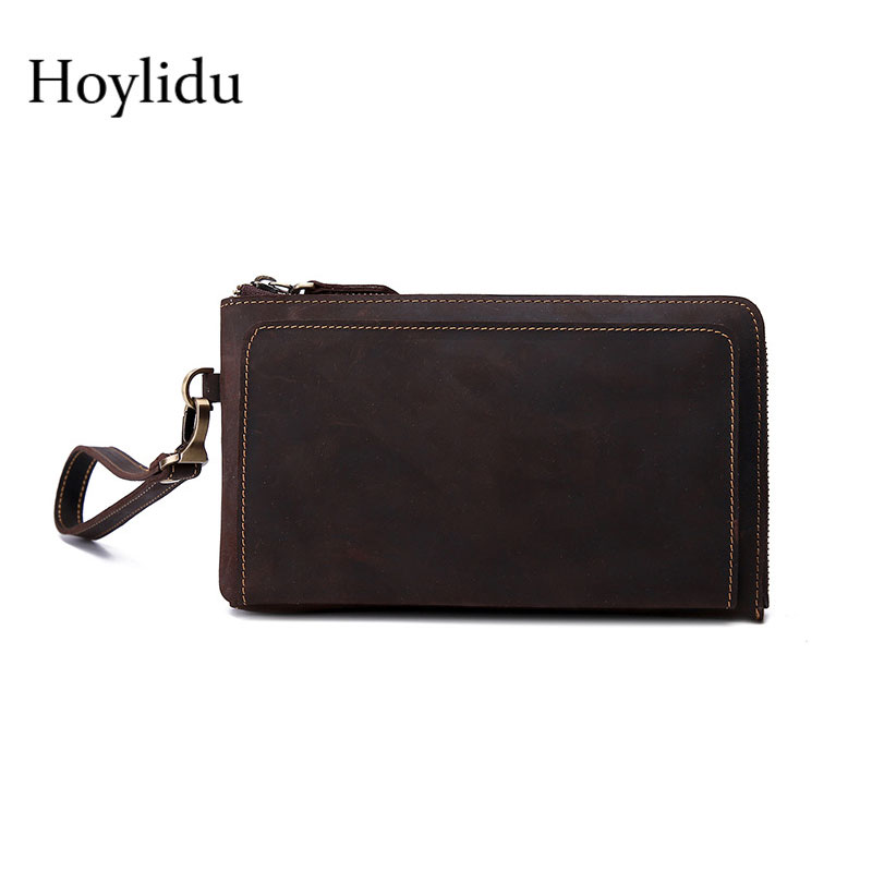 New Fashion Cow Genuine Leather Men Wallet Long Style Muti-card Large Capacity Bifold Design Casual Zipper Clutch Purse Handbag чехол для iphone 6 глянцевый printio kiss кисс