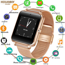 Smart Watch GT08 Plus Metal Strap Bluetooth Wrist Smartwatch Support Sim TF Card Android&IOS Watch Multi-languages PK S8 Z60(China)