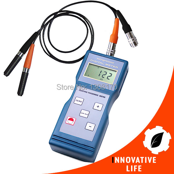 Digital Paint Coating Thickness Meter Gauge Ferrous F / Non-Ferrous NF Probes 0-1000um /0-40mil Range Enamel Copper Zinc  gm200 coating thickness gauge standard model with built in probe for ferrous metal substrates yellow