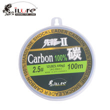 Ilure Leada 100% Fluorocarbon Fishing Lines Carbon Fiber 30m 50m 100m/spool Super Strong Leader 60lb 80lb free shipping