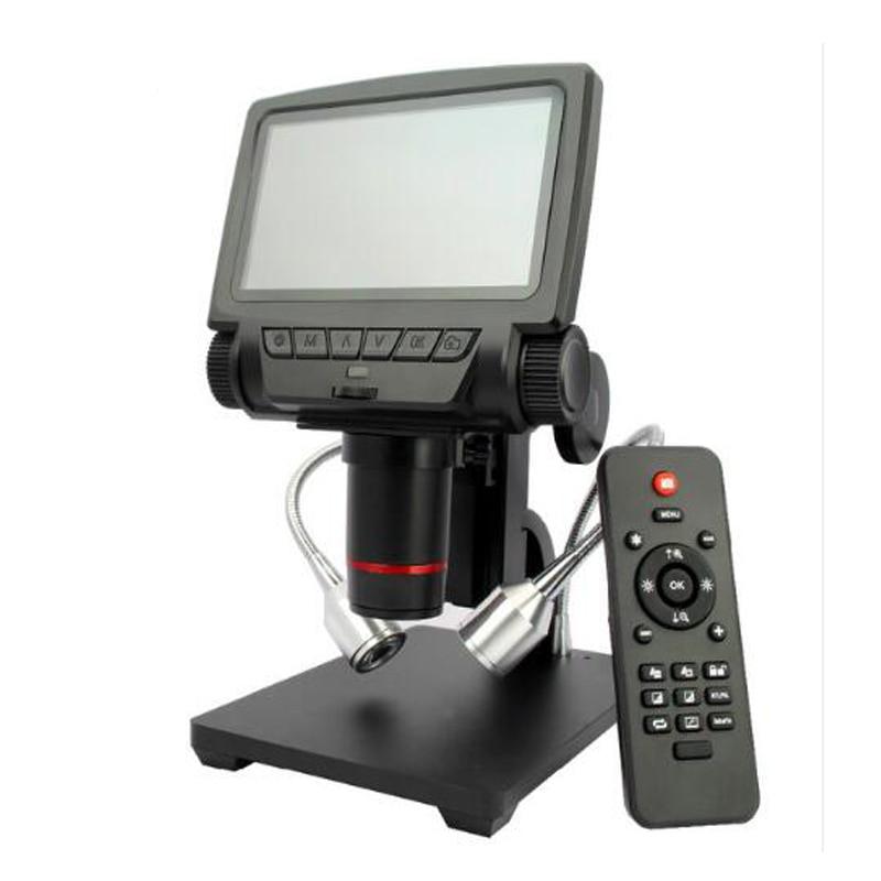 5 inch ADSM301 <font><b>HDMI</b></font>/AV microscope +remote control long object distance digital USB microscope for mobile <font><b>phone</b></font> repair solder