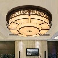 Новый китайский Потолочные светильники круглый железный Art классический античный спальня исследование лампа современный новый тип гостин