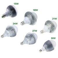 Nowe Jasne A19 E27/E26 Żarówka LED Globe Lampa Światła 85-265 V 15 W/18 W/21 W/24 W/27 W/30 W High Power Led Żarówki Super Bright Lampy