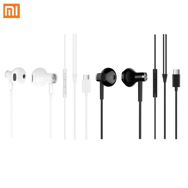 Xiaomi Earphones USB Type C Headset Half In Ear Wired Control Dynamic Ceramic Speaker Headphones with Mic MI Headsets