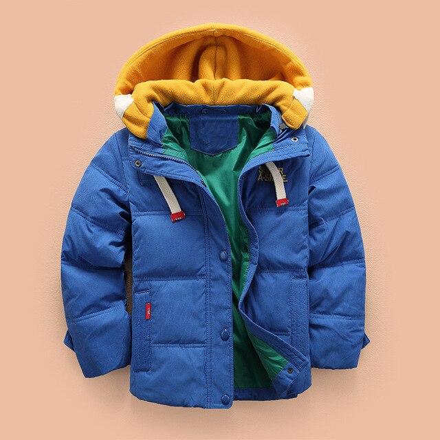 Boys Winter Coat Kids Hooded Jacket Children's Clothing For Boys 3 4 5 6 8 10 Years Children Plus Velvet Jacket 2019 New 5